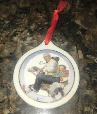 """Jc Penny Norman Rockwell Christmas Ornament 1997 """"Gramps At The Reins """""""