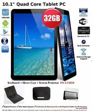 """32GB 10"""" Inch A31s Quad Core Android Tablet + Keyboard Bundle Google Play Hdmi -"""