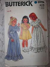 BUTTERICK CHILDREN'S DRESS  #3119 SIZE 5 UNCUT