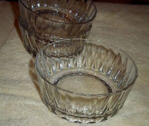 """3 Pasabahce Clear Glass  Bowls,Made In Pasabahce Turkey CUT GLASS 4 1/2"""" Wide"""