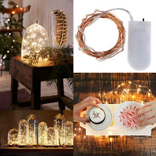10/20/30 LED Micro Copper Fairy String Lights Battery Party Wedding Birthday Red 2m 20led