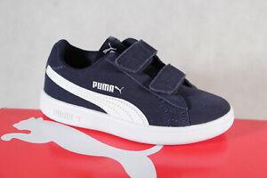 Puma Zapatillas de Deporte Zapatillas de Footing Ocio Azul Cuero Nuevo