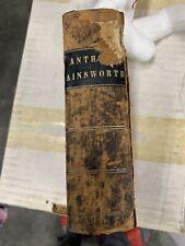 1848 Abridgment of AINSWORTH'S DICTIONARY English & Latin John Dymock ANTIQUE