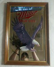 Miller High Life Beer Wisconsin Wildlife Series Mirror Sign Bald Eagle 22x15