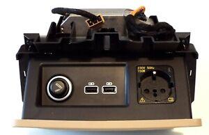 VW Touareg 3 III CR7 Wechselrichter + Klappfach 220V USB 2014 KM verbaut beige