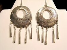 *50% OFF SALE *ONLY 2 PAIRS LEFT! SILVER  HILL TRIBE EARRINGS-Lg. open circle