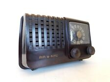 VINTAGE 1940s OLD AIR KING MACHINE AGE ANTIQUE BAKELITE OLD TUBE RADIO NO CRACKS