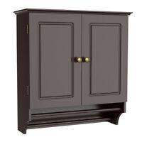 Wall Mount Cabinet Bathroom Storage Shelf Laundry Kitchen Organizer w/Towel Bar