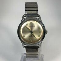 Vintage Caravelle Mens M5 Manual Wind Up 7 Jewel Silver Tone Analog Wristwatch