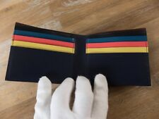 PAUL SMITH London navy blue leather bifold wallet authentic - New in Box