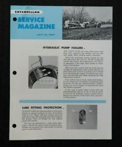 "1967 CATERPILLAR 12F 14E MOTOR GRADER ATTACHMENTS  ""SERVICE MAGAZINE"" BROCHURE"