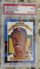 1988 Donruss Diamond King #8 Devon White Angels Baseball Card Psa 9 Mint