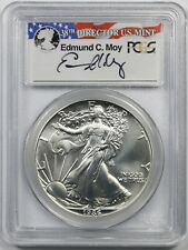 1986 American Silver Eagle $1 MS 69 PCGS Edmund C. Moy Signature