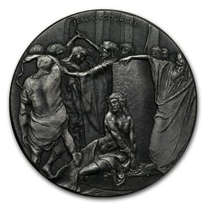 Jesus Scourged 2 oz .999 silver coin Biblical series, Bible Story 2018 Crucify