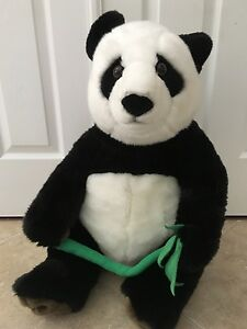 FAO Schwarz Giant Panda Stuffed Bear With Bamboo Shoot / Excellent Condition /