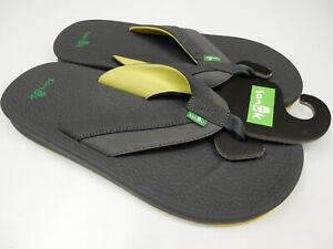 Sanuk Mens Sandals Brumeister Charcoal Lightning Size 9