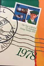 1978 collection of Australian Stamps in Display folder with information.