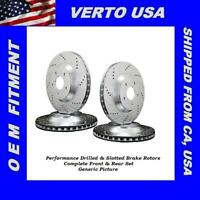 Front Rear Brake Rotors For Ford Mustang Base 2005-2006-2007-2008-2009-2010