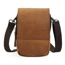 Men Real Leather Small Shoulder Bag Fanny Waist Bag Pouch Casual Belt Bum Bag