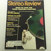 VTG Stereo Review Magazine November 1981 - William Finn & March of the Falsettos