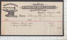 A435 John S. Wardwell Hardware Co. billhead, Rome, NY Henry W. Jones anvil 1906