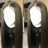 Silky Straight 100% Remy Brazilian Human Hair Wigs Glueless Full Lace Front Wig