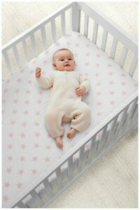 Aden and Anais Cozy Muslin fitted crib sheet ~ Pink Prints Fast Free Shipping