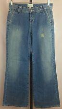 Abercrombie & Fitch Denim Jeans Sz 6 Regular Bell Bottom Flare Medium Wash New