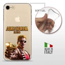 iPhone 7 TPU CASE COVER PROTETTIVA GEL TRASPARENTE GAMES Duke Nukem 3D