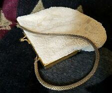VINTAGE CLUTCH purse handbag HONG KONG BEADS heavily beaded ELEGANT statement