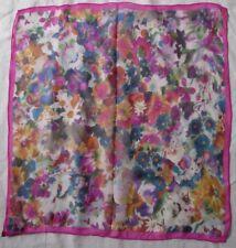 Joli foulard tour de cou CODELLO en soie vintage scarf - 55 cm x 55 cm