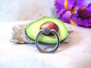 Avocado Phone Ring Finger Grip Stand - Universal Food Mobile Sticky Cell Holder