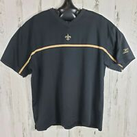 NFL Team Apparel Reebok New Orleans Saints Mens XL Heavy Weight T Shirt Black