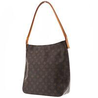 LOUIS VUITTON Looping GM Shoulder Bag Monogram Canvas M51145 Authentic #AB790 Y