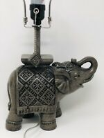 Majestic Gray Elephant-Shaped Decorative Accent Table Lamp for Home Decor