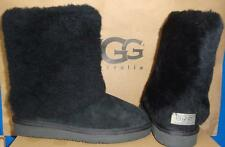 UGG Australia PATTEN Black Suede Sheepskin Boots Size US 5,EU 36 NIB #1006794