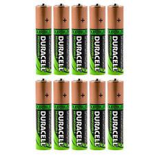 10 x Duracell AA HR06 2450 mAh Capacité Duralock NiMh AA Rechargeable Batteries
