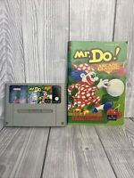 Super Nintendo SNES Game - Mr Do! Arcade Classic With Instructions TESTED