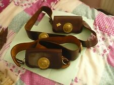 More details for 2 x boys brigade leather pouches and straps in good order