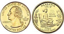 QUARTER DOLLAR 2003 ALABAMA DORE OR FIN 24 CARATS