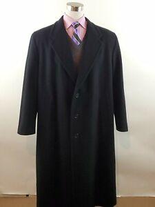 Giorgio Armani Le Collezioni Wool Cashmere OverCoat Trench Men's Size 44 R (XL)