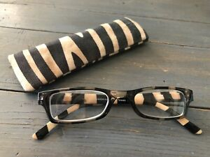 Peepers Reading Glasses Rectangular Lenses Black Cream Stripes +3.00