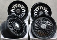 "17"" CRUIZE CLASSIC ALLOY WHEELS MATT BLACK DEEP DISH 4X100 17 INCH ALLOYS"