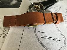 22mm leather watch strap.B-uhr ,Flieger ,WW II Luftvafe model .Pilot watch .