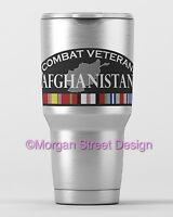 Yeti Afghanistan Veteran Die Cut Vinyl Phone Yeti Decal Sticker