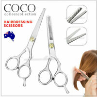 "2pcs 6"" Salon Hairdressing Scissors Hair Barber Shears Cutting Thinning Tool Set"
