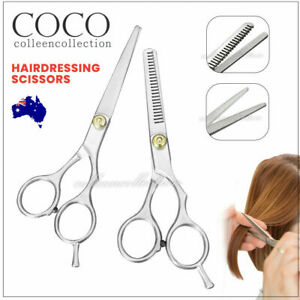 "2pcs 6"" Salon Hairdressing Scissors Hair Barber Shears Cutting Thinning Tool Set"