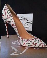 AUTHENTIC NEW LOUBOUTIN PIGALLE SIZE 39 FOLLIES 100  CHERRIES   PUMPS SHOES