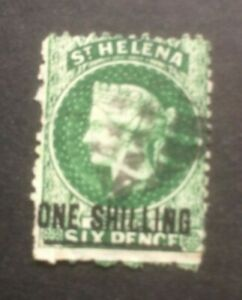 ST HELENA 1864-1880 SURCH SG19 USED CAT £16