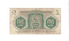 New listing Libya - Five (5) Lire 1943
